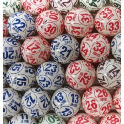 Pack 90 balles de loto PING PONG légères numérotées x 10