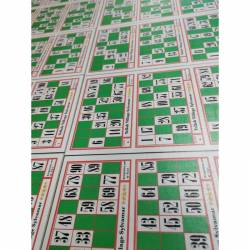 """100 cartons de loto Gamme"""" TRADITION """"plastifiés"""