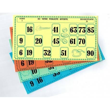 Les 500 cartons de loto individuels 250 Grs