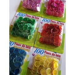 12 sachets de 100 pions de loto magnétiques
