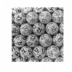 Pack 90 balles de loto PING PONG Noires et Blanches numérotées x 10
